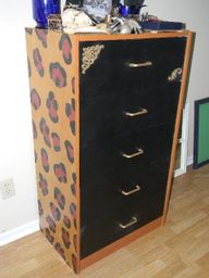 Leopard Print Decorative Dresser